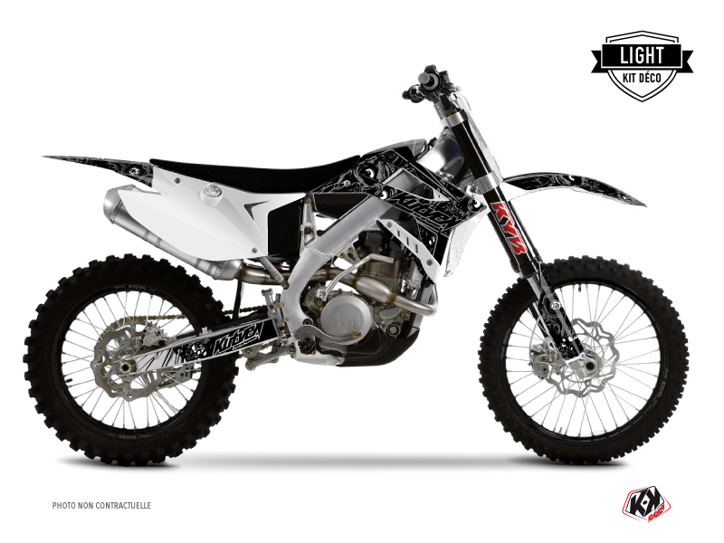 TM MX 125 Dirt Bike Zombies Dark Graphic Kit Black LIGHT