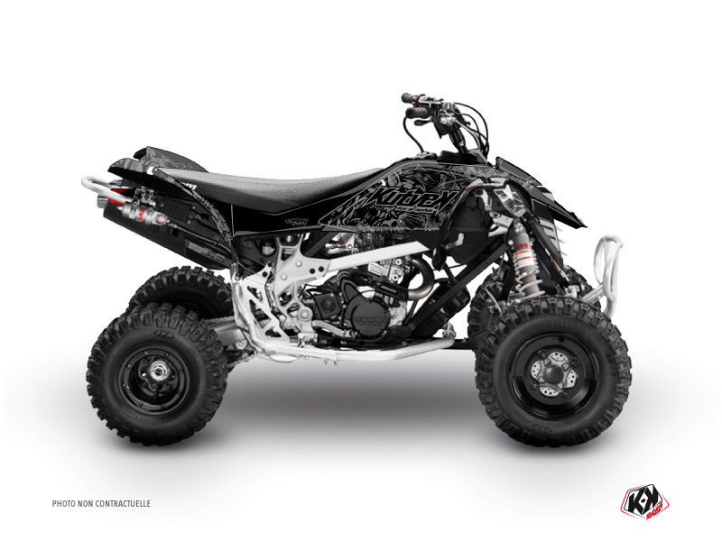 Can Am DS 90 ATV Zombies Dark Graphic Kit Black
