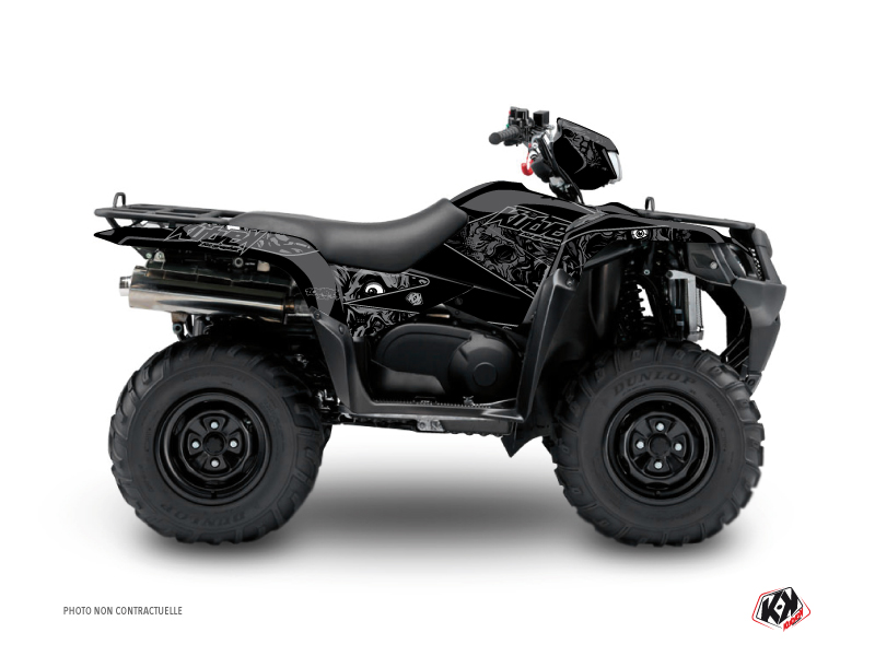 Suzuki King Quad 500 ATV Zombies Dark Graphic Kit Black