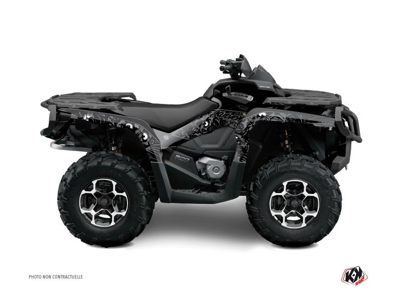 Can Am Outlander 1000 ATV Zombies Dark Graphic Kit Black