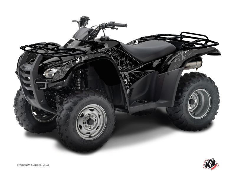 Honda Rancher 420 ATV Zombies Dark Graphic Kit Black