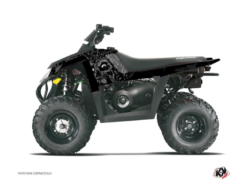 Polaris Scrambler 500 ATV Zombies Dark Graphic Kit Black