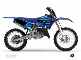Yamaha 250 YZ Dirt Bike Outline Graphic Kit Cyan