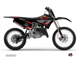 Yamaha 250 YZ Dirt Bike Outline Graphic Kit Red