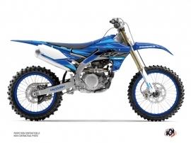 Yamaha 450 YZF Dirt Bike Outline Graphic Kit Cyan