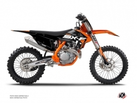 PACK Kit Déco Moto Cross Halftone KTM 250 SXF Noir Orange + Kit Plastiques 250 SXF Noir à partir de 2016