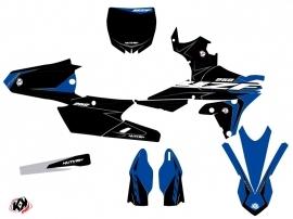 PACK Yamaha 250 YZF Dirt Bike Halftone Graphic Kit Black Blue + Plastics Kit 250 YZF Black from 2014