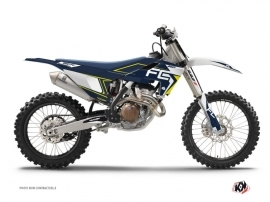 PACK PACK HUSQVARNA 250/450 FC Dirt Bike Halftone Graphic Kit Blue Yellow