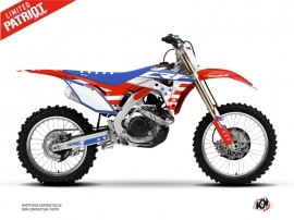 Kit Déco Moto Cross Patriot Honda 250 CRF Bleu