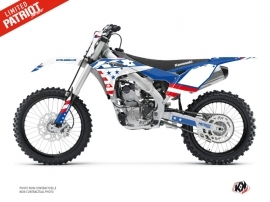 Kawasaki 250 KXF Dirt Bike Patriot Graphic Kit Blue