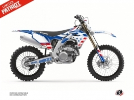 Kawasaki 450 KXF Dirt Bike Patriot Graphic Kit Blue