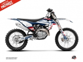 KTM 250 SX Dirt Bike Patriot Graphic Kit Blue
