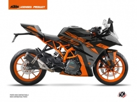 KTM 125 RC Street Bike Perform Graphic Kit Black Orange
