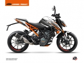 KTM Duke 390 Street Bike Perform Graphic Kit Black White