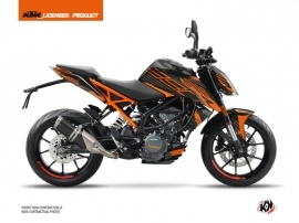 KTM Duke 390 Street Bike Perform Graphic Kit Black Orange
