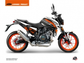 KTM Duke 690 R Street Bike Perform Graphic Kit Black White