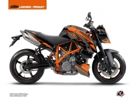 Kit Déco Moto Perform KTM Super Duke 990 Noir Orange