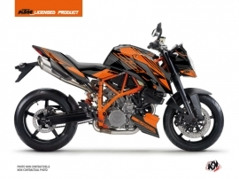 KTM Super Duke 990 R Street Bike Perform Graphic Kit Black Orange