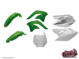 Kit plastiques vert Kawasaki 125-250 KX 2003-2004