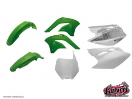 Kit plastiques vert Kawasaki 125-250 KX 2005-2008