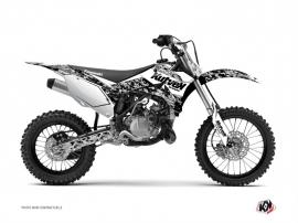 Kit Déco Moto Cross Predator Kawasaki 110 KLX Blanc