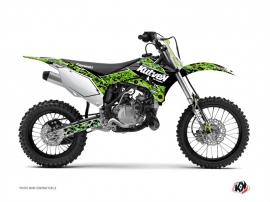 Kit Déco Moto Cross Predator Kawasaki 110 KLX Noir Vert