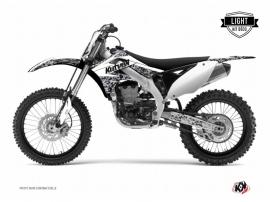 Kit Déco Moto Cross Predator Kawasaki 250 KX Blanc LIGHT