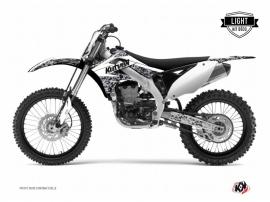 Kit Déco Moto Cross Predator Kawasaki 125 KX Blanc LIGHT