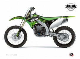 Kit Déco Moto Cross Predator Kawasaki 250 KX Noir Vert LIGHT
