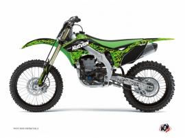 Kit Déco Moto Cross Predator Kawasaki 125 KX Noir Vert