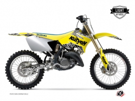 Kit Déco Moto Cross Predator Suzuki 125 RM Jaune LIGHT