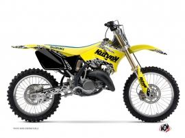 Kit Déco Moto Cross Predator Suzuki 125 RM Jaune