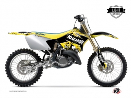 Suzuki 125 RM Dirt Bike Predator Graphic Kit Black Yellow LIGHT