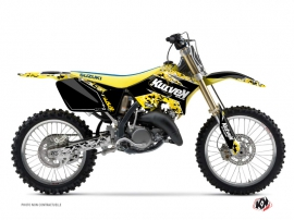 Suzuki 125 RM Dirt Bike Predator Graphic Kit Black Yellow