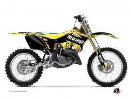 Kit Déco Moto Cross Predator Suzuki 125 RM Noir Jaune