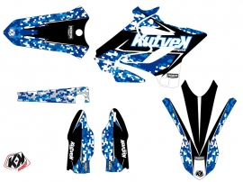 Kit Déco Moto Cross Predator Yamaha 250 YZ Bleu LIGHT