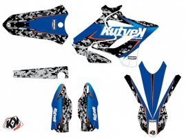 Kit Déco Moto Cross Predator Yamaha 250 YZ Noir Bleu LIGHT
