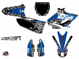 Yamaha 125 YZ Dirt Bike Predator Graphic Kit Black Blue