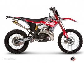 Kit Déco Moto Cross Predator Gasgas 125 EC Noir Rouge