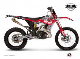 Kit Déco Moto Cross Predator Gasgas 125 EC Noir Rouge LIGHT