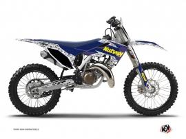 Kit Déco Moto Cross Predator Husqvarna TC 125 Violet Jaune