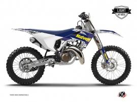 Kit Déco Moto Cross Predator Husqvarna TC 125 Violet Jaune LIGHT