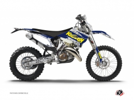 Kit Déco Moto Cross Predator Husqvarna 125 TE Violet Jaune