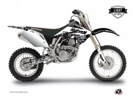 Honda 125 CR Dirt Bike Predator Graphic Kit White LIGHT