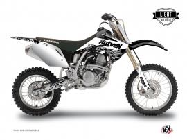 Honda 125 CR Dirt Bike Predator Graphic Kit White LIGHT