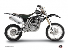 Honda 125 CR Dirt Bike Predator Graphic Kit White