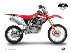 Honda 125 CR Dirt Bike Predator Graphic Kit Black Red LIGHT