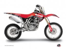 Honda 125 CR Dirt Bike Predator Graphic Kit Black Red