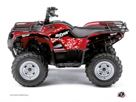 Yamaha 125 Grizzly ATV Predator Graphic Kit Red