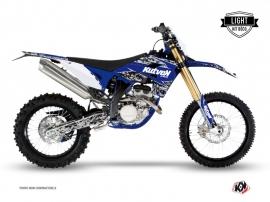 Kit Déco Moto Cross Predator Sherco 250 SEF R Noir Bleu LIGHT